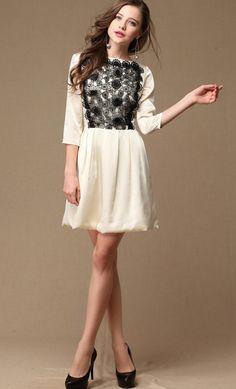 Embroidery Organza Dress.