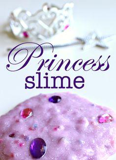Princess slime - who says a princess can't adore slime? Great sensory play for kids.