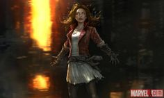 Scarlet Wicht Wanda Maximoff  concept art for Avengers Age of Ultron