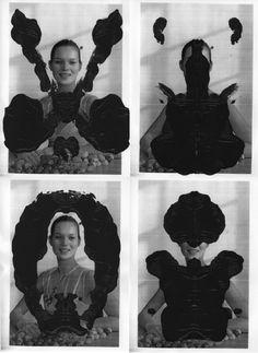 Kate Moss Rorschach test #2,Asher Penn, 2008
