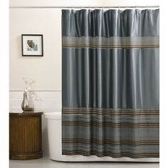 New Park Smith WATERSHED 2 in 1 Fabric Shower Curtain Waffle Weave Mineral