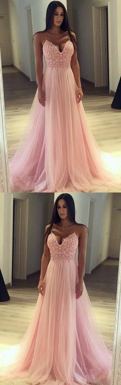 Prom Dress with Thin Straps, Back To School Dresses, Prom Dresses For Teens, Graduation Party Dresses , M1285