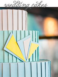 Mint Green Art Deco Wedding Cake @Alante Photography