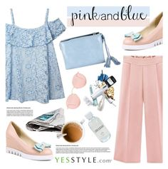 """""""YesStyle Polyvore Group """" Show us your YesStyle """""""" by helenevlacho ❤ liked on Polyvore featuring Pufii, Ray-Ban and Lord & Berry"""