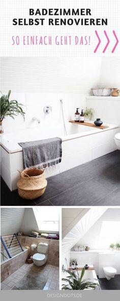 Badezimmer Ideen, Badezimmer Fliesen, Badezimmer Deko, Badezimmer  Renovieren Vorher Nachher, Badezimmer Renovieren