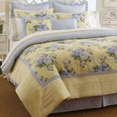 Shop for Laura Ashley Caroline 4-piece Comforter Set. Get free shipping at Overstock.com - Your Online Fashion Bedding Outlet Store! Get 5% in rewards with Club O!