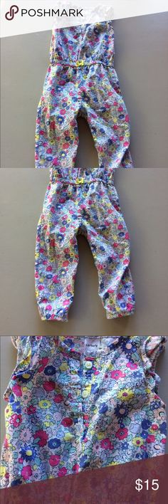Sleeveless romper with pants for baby girl summer Super light weight cotton one piece baby girl romper. So adorable for your little girl! Great for summer, spring and fall! Carter's One Pieces Bodysuits