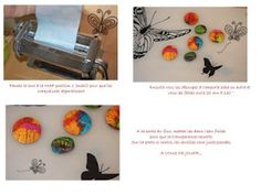 Tutorial inks cracked polymer clay.  This is brilliant.  Lay inks on a tin foil board then lay translucent clay on top.  Run through pasta machine. cool.