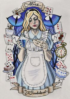 This is my third painting from Alice's Adventures in Wonderland (the 1865 novel by Lewis Carroll)