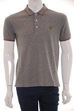 Lyle and Scott Mens Polo Shirt Grey b_XXL Tipped Regular Fit - Various Size Options