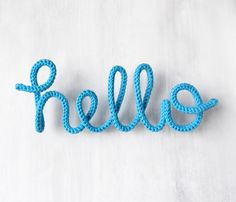"""Letters & Logos - Wall Decoration Lettering """"hello"""", wall hanging - a unique product b Diy Air Dry Clay, Diy Design, Spool Knitting, Monthly Themes, Idee Diy, Gold Ink, Letter Logo, Boyfriend Gifts, Creations"""