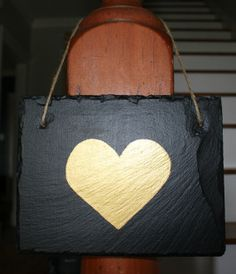 could do pink or blue for baby room or reveal?? 9.5 Square Slate Love DecorPainted Heart Slate by SouthernNeeds, $14.00