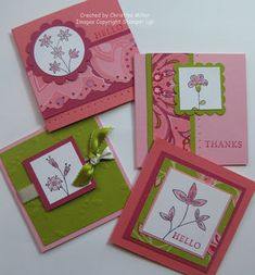 Sweet stems mini note cards