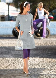 Dress light gray / white mottled - BODY FLIRT buy online - bonprix.nl