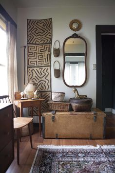 Exceptional smart home decor advice info are offered on our site. Take a look and you wont be sorry you did. Cute Dorm Rooms, Cool Rooms, African Bedroom, Farmhouse Side Table, Vintage Industrial Decor, Interiores Design, Decorating Your Home, Living Room Designs, Home Accessories