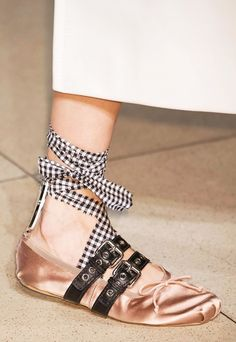 b65db72fbcd Everyone s Obsessing Over These Designer Ballet Flats. Miu Miu Ballet  FlatsLace Up ...