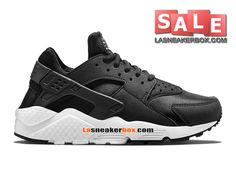 f9b5f9edd49 Boutique Officiel Nike Air Huarache Run Homme Noir Noir-Blanc