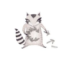 Festive raccoon by Julianna Swaney