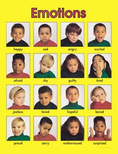 Emotions - This would make a great activity for very young children learning about emotions. You could cut apart the pictures and have children describe how the person is feeling or make a match game out of them.