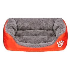 LOOK!  Puppy Bed Haoricu Pet Cat Cushion House Soft Warm Kennel Dog Mat Blanket M