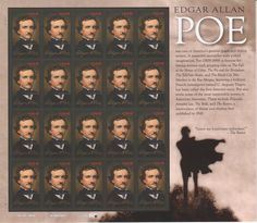 Edgar Allen Poe. While not a formal or big collection, I've been gather stamps that somehow relate to mystery fiction. Poe is considered the father of the American detective story, The Murders in the Rue Morgue.