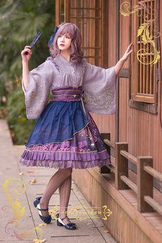 IchigoMiko -Fantastic Night By The River of Sakura- Wa Lolita Skirt (Short Version)