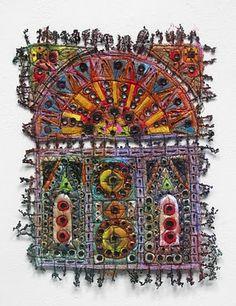fabric art by Susan Lenz    Delicious, simply delicious!