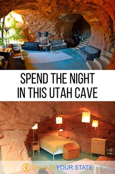 If you're looking for a unique vacation this Utah bed and breakfast in a cave may be the best choice. It's so much cooler than a hotel and has all the amenities you'll need. Right in the Grand Stairca Utah Vacation, Vacation Places, Vacation Trips, Places To Travel, Vacation Ideas, Yellowstone Vacation, Travel Destinations, Unique Vacations, Dream Vacations