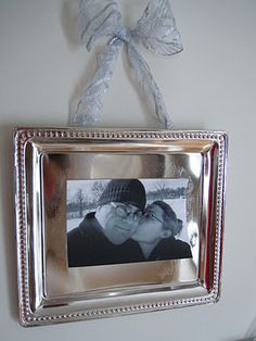 dollar tree tray turned picture frame