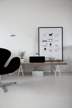 interior with swan chair by Fritz Hansen at www.mootic.pl