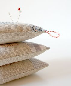 a little stack of new pincushions by pilli pilli, via Flickr