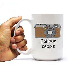 "Funny Photographer 15oz Coffee Mug - ""I Shoot People"" Camera Design VictoryStore http://www.amazon.com/dp/B00TP1TPP6/ref=cm_sw_r_pi_dp_opGWvb0HSGKJS"