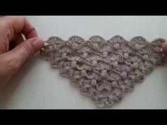 Mantar şal /Mushroom shawl Crochet Dishcloths, Crochet Shawl, Knit Crochet, Cute Crochet, Scarf Wrap, Crochet Necklace, Stuffed Mushrooms, Crochet Patterns, Knitting