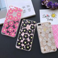 Caixa do telefone da moda para iphone 6 6 s plus 7 7 plus 5S 5 se claro fosco capas de disco rígido 3 cores flores de volta capa para iphone 6 caso
