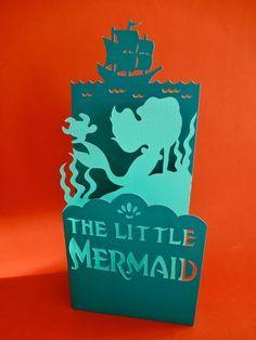 The Little Mermaid Ariel Standing Papercut Handmade Card