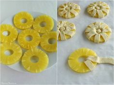 Pineapple puff pastry in pictures - Le boudoir de K - A box of pineapple or a fresh pineapple cut into slices a puff pastry a little icing sugar Dessert Bread, Dessert Recipes, Puff Pastry Recipes, Pancake Recipes, Cherry Candy, Homemade Pancakes, Pastry Art, Sweet Pastries, Mini Pies
