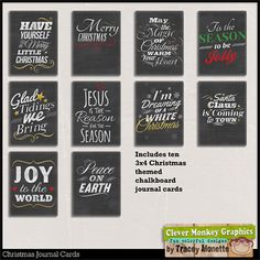 Christmas Journal Cards by Clever Monkey Graphics - Digital scrapbooking kits available through Oscraps, GingerScraps, or MyMemories