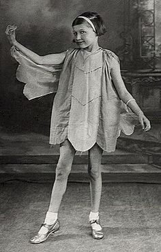 """""""Here I am as a fairy in the Sunday School Christmas Pantomime at Christ Church in Upper Armley, Leeds. My mother made my costume.  I really enjoyed 'being on the stage,' and might have become an actress if I hadn't felt so compelled to write. Aged eight years."""":"""