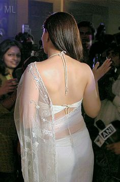 Kareena Kapoor in a backless saree