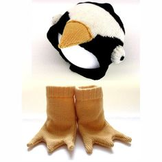 Baby Penguin Hat and Booties