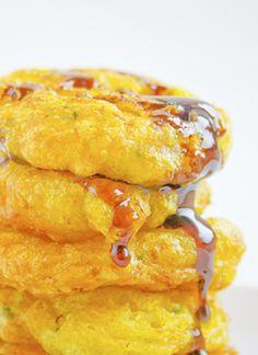 Honey Glazed Goat Cheese Fritters