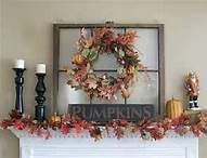 Craft Ideas With Old Windows. Use an old window as decor on the mantle. Change out wreaths and other seasonal decor.