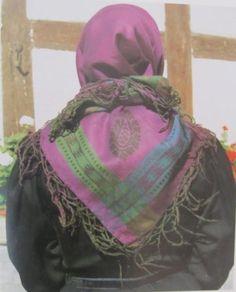 Rotenburger Tracht Kopftuch der Frau #Rotenburg
