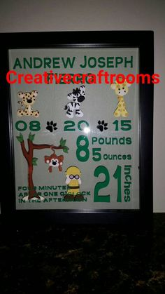 Personalized Customized baby birth statistic by CreativeCraftRooms
