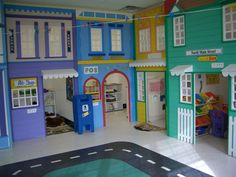 Love this for a Play area... I know the kids would love a BAKERY, POST OFFICE, and LIBRARY, great way to separate toys into certain themes, and give more privacy for larger groups to play :)