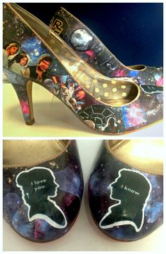 Custom Star Wars Wedding Heels for Charity by BrokenChainCreations, $60.00 (I would say I love these, but you already know)