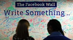 Facebook is trying to get rid of bias in Trending news by getting rid of humans; People look at the Facebook wall at their office in New York