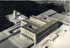 1937-59, Casa Littoria all'Aventino, poi Ministero Affari Esteri al Foro Italico, Roma. Arch. Enrico Del Debbio con  Arnaldo Foschini e Vittorio Morpurgo