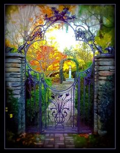 Elegant iron garden Gate, Dumbarton Oaks, Washington DC