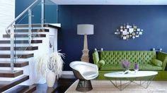Blue Notes, Dark Blue Interior Decorating, Royal Blue in Interior Design